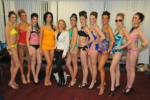 Orange Model: Cassandra Wilson at the Pascale Swimwear Fashion Show.