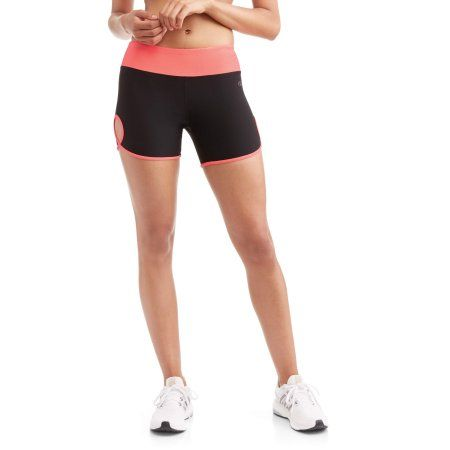 N.Y.L. Sport Women's Performance Bike Shorts With Contrast Trim, Size: Medium, Orange