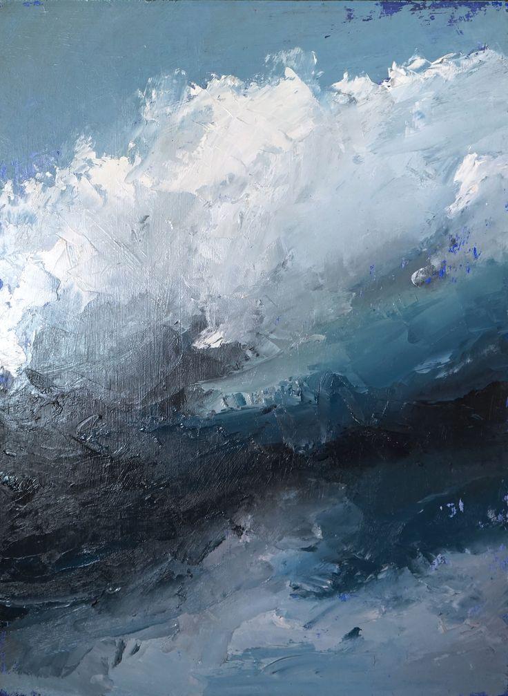 <em>Cloud Series #6</em>, 2016</br>Matilda Dumas</br>Oil on Board</br>61 x 46 cm</br>$750