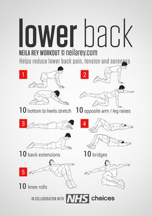 Lower Back Workout. Tons of superhero workouts too!