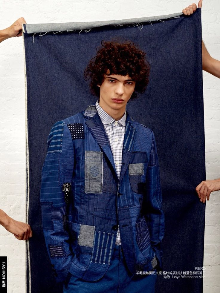 Chris Bunn, Nathaniel Levin, Piero Mendez and Stanley St. Claire shot by Bela Borsodi and styled by Haidee Findlay Levin with denim pieces, for the August 2015 issue of GQ China.