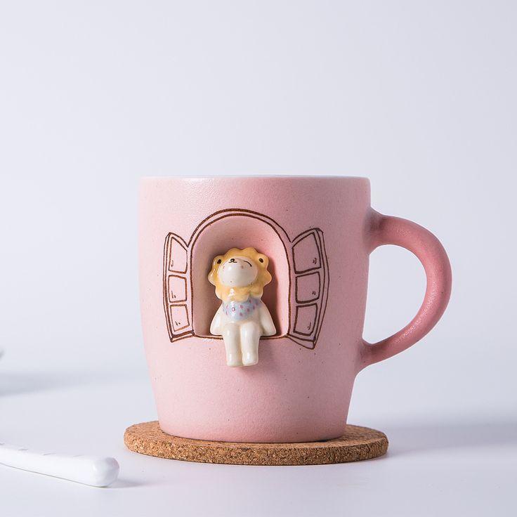 Creatieve handgemaakte mok cartoon dier kiemen leeuw mok mokken melk cup groene thee melk koffie mokken Gratis verzending in Creatieve handgemaakte mok cartoon dier kiemen leeuw mok mokken melk cup groene thee melk koffie mokken Gratis verzending van Mokken op AliExpress.com | Alibaba Groep