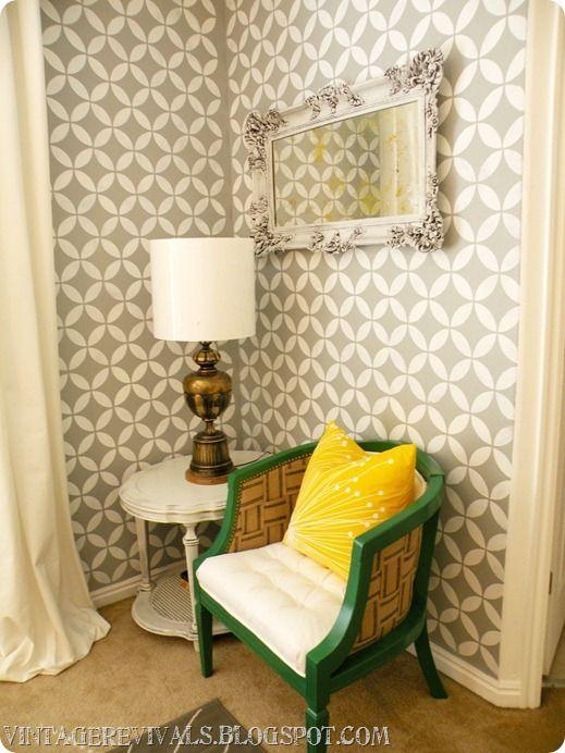 Wallpaper!: Color, Wall Stencil, Wallpaper, Stenciled Wall, Moorish Circles, Endless Moorish, Room Makeovers, Design Studios