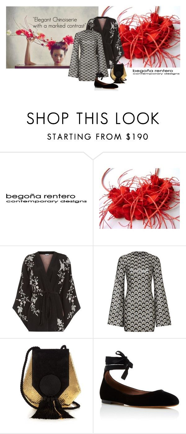 """""""Elegant Chinoiserie with a marked contrast."""" by renterodesigns on Polyvore featuring moda, Talitha, Rubin Singer, Yves Saint Laurent y Tabitha Simmons"""