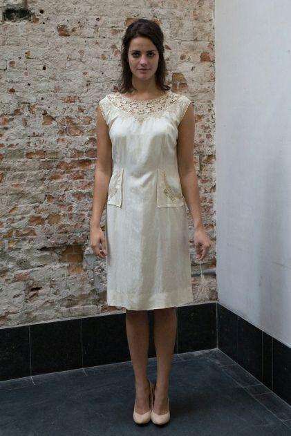 Creme witte jaren 60 jurk