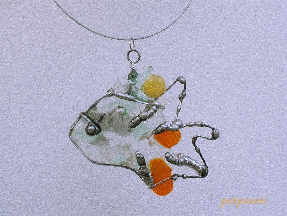 Sternbild Fisch / Anhänger / Fensterbild / von RosasPotpourri