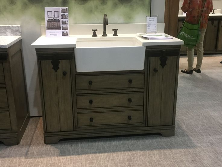 9 Best Farmhouse Style Bath Vanities Images On Pinterest Country Style Farm House Styles And
