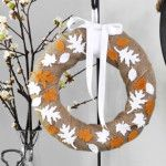Fall DIY: Burlap & Felt Leaf Wreath