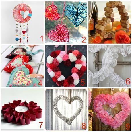 10 Decorazioni fai da te a forma di cuore