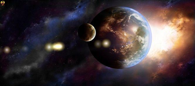 Aarde, planeten, sterrenstelsels, kunst