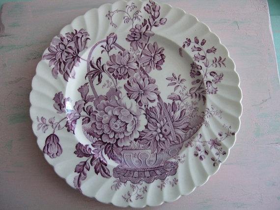 lavender purple toile transferware - photo #44