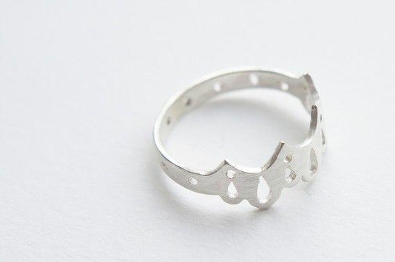 Ropa interior anillo 001 plata corte por Gemagenta por gemagenta