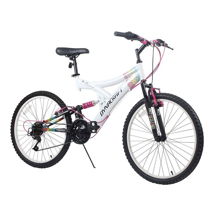 Dynacraft 24-in. Rip Curl Full Suspension Mountain Bike - Girls, White