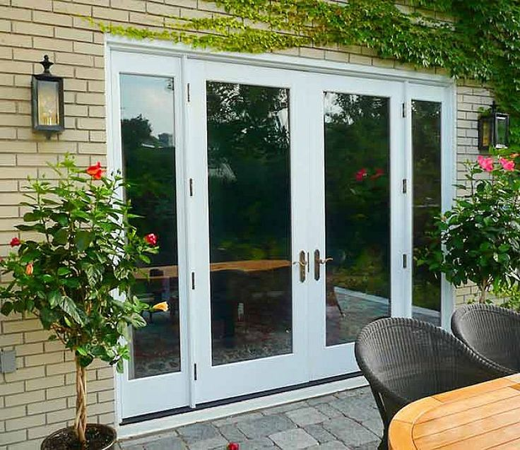 New Basement Exterior French Doors