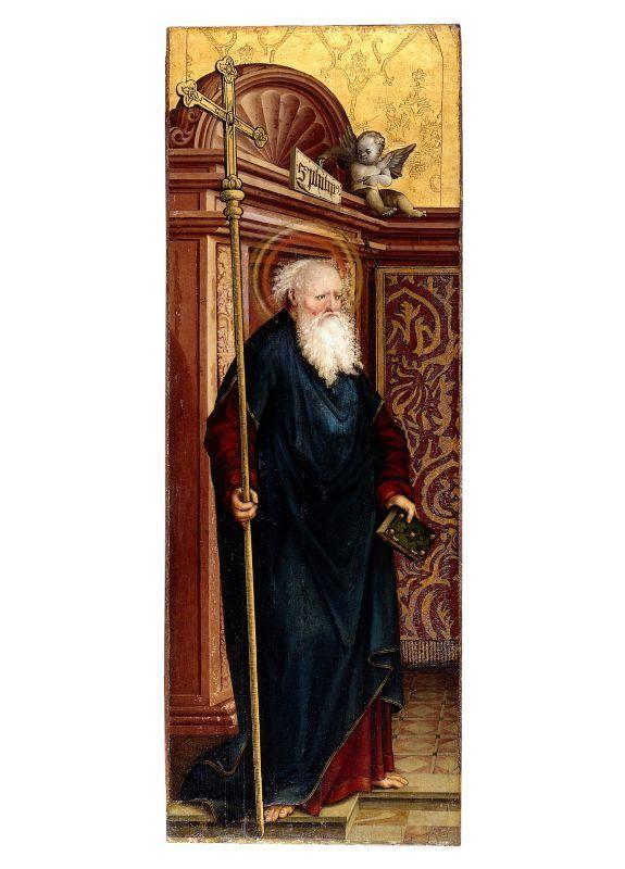 Schaffner, Martin (attributed), The Apostle Philip. Painting on fir. 134 x 48,6 cm, Gm268, Germanischen Nationalmuseum Nürnberg