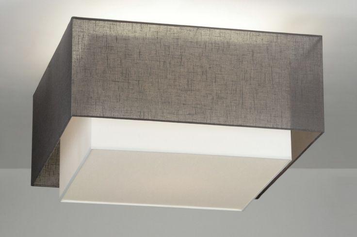 Deckenleuchte 88539 modern design stoff anthrazit for Deckenleuchte stoff