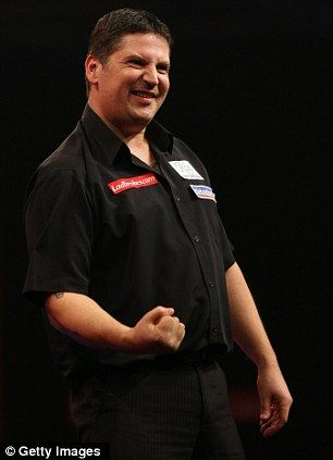 """The 2011 PDC Premier League champion, and now the current PDC world champion, """"The Flying Scotsman"""" Gary Anderson."""