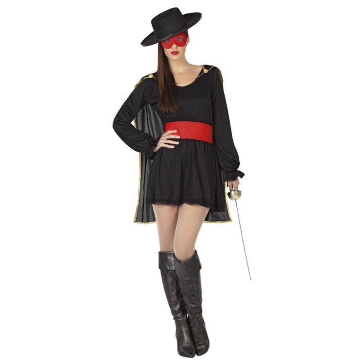 Déguisement Zorro Le Bandit Femme #déguisementsadultes #costumespouradultes #nouveauté2016