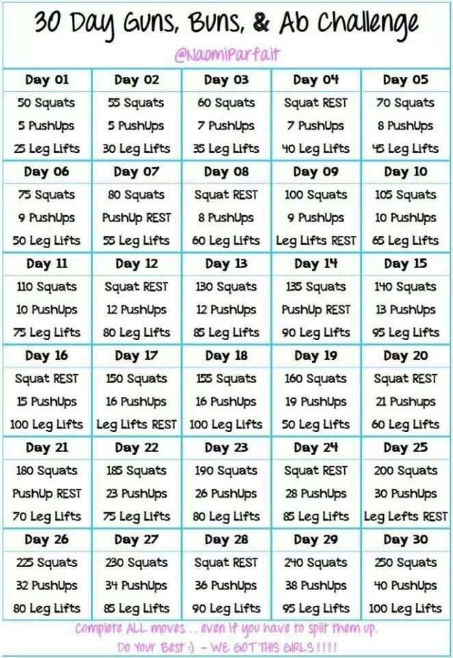 60 Day Challenge Workout Plan – Guiler Workout