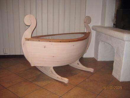 Viking longboat baby crib :)!
