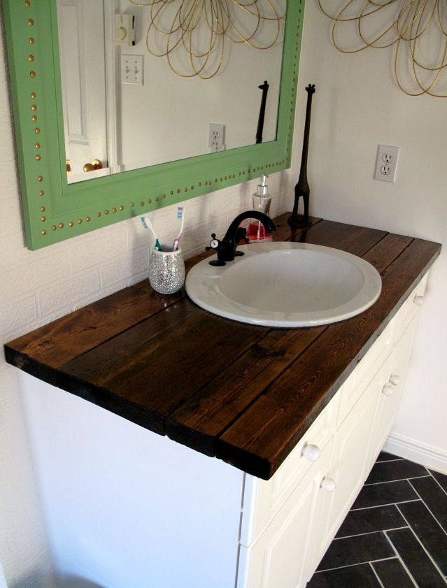 I needed a cheap solution for the vanity top in our bathroom, and wood seemed like the logical choice. If sealed properly, it is durable and has the added bonus of looking fine so fine. The vanity is relatively small, and there were no complicated cuts or measurementsto be made so it was a good …