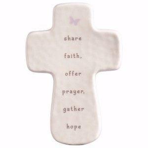 Share Faith, Offer Prayers, Gather Hope Mini Cross