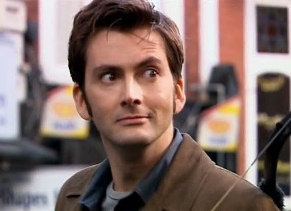 The Tenth Doctor smirk