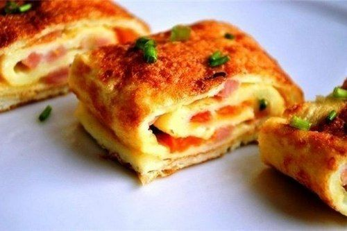 Baked Ham And Cheese Omelet Roll Recipe