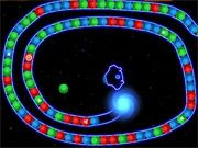 Free Online Puzzle Games, Head into unknown territory as you play a match 3 bubble game in space!  Launch your bubble from your spacecraft so that the color matches at least 2 of the neighboring bubbles!  See if you can clear out each level before the bubbles get to the blackhole!, #bubble #bubble shooter