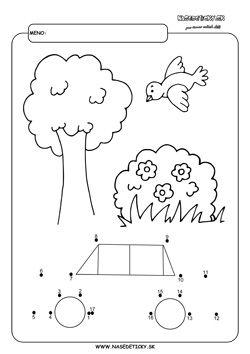 Spájanie bodiek. Auto. - Aktivity pre deti, pracovné listy, online testy a iné
