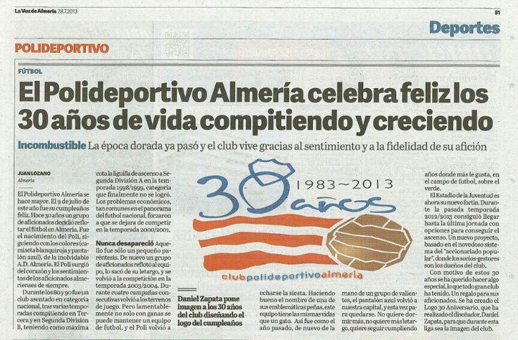 La Voz de Almería, 30 aniversario - 28/07/2013