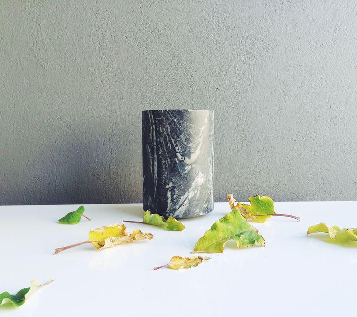 Excel My Belle marmor vase - Stor sort - Tinga Tango Designbutik