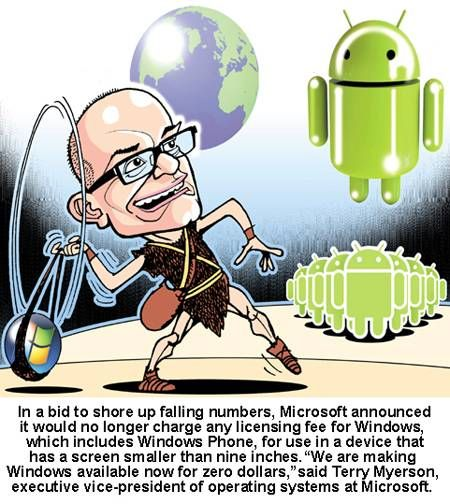#Microsoft's new strategy to compete with Android.