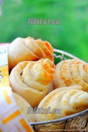 Булочки с сыром и чесноком с хрустящей корочкой, внутри они мягкие и нежные