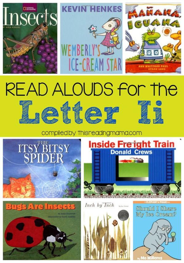 Read Alouds for the Letter I - This Reading Mama