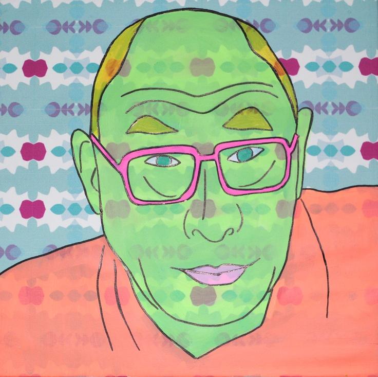 Dalai Lama  Retrato, Valentina Giraldo febrero 2013