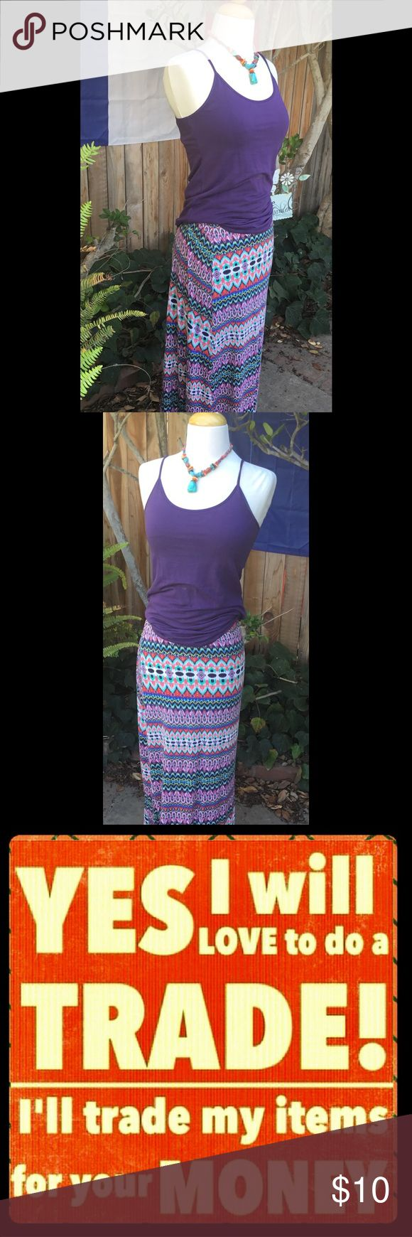 Aztec Maxi Skirt Colors Galore...Will go with so much in your Wardrobe 👗👠👗 B Jewel Skirts Maxi