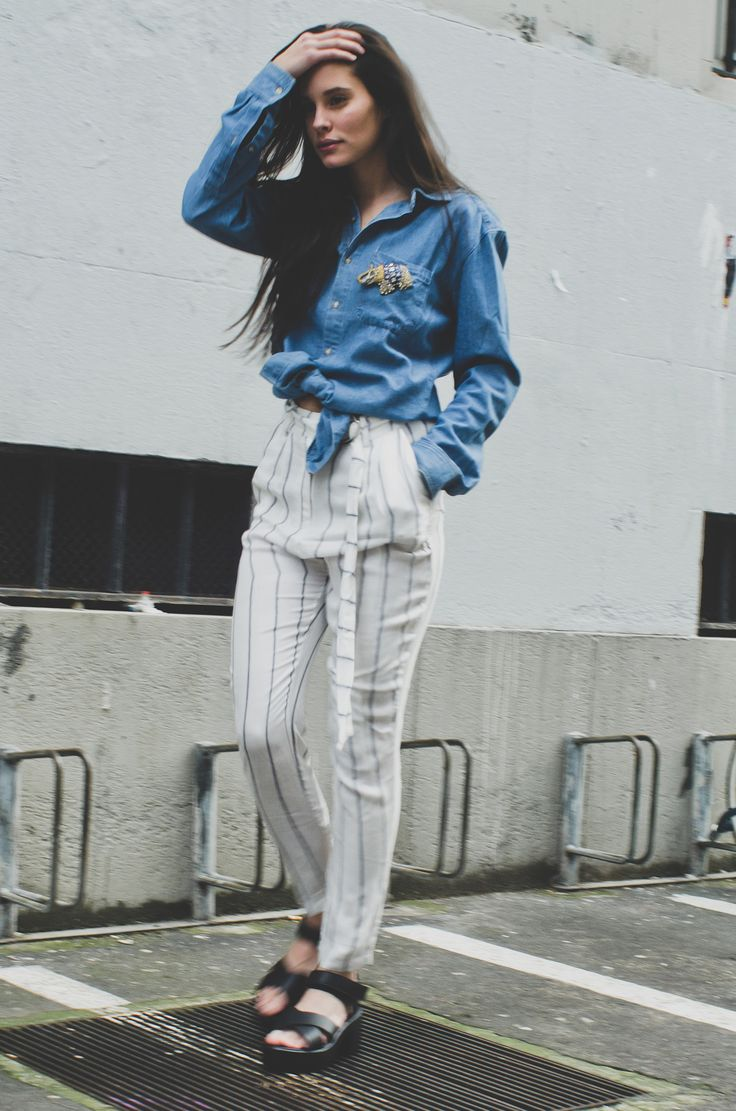 Aria Layered trousers. perfect spring summer 2015 pants.