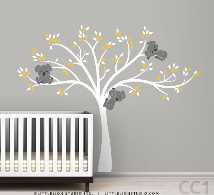 Modern Koala Cuteness, as seen on Project Nursery. $123.00, via Etsy.Decals Modern, Kids Nurseries, Wall Decals, Modern Koalas, Baby Ideas, Projects Nurseries, Baby Room, Koalas Wall, Baby Nurseries