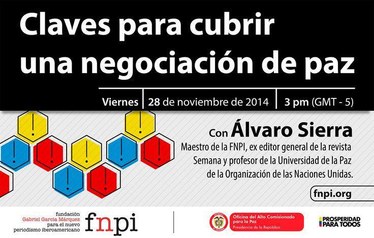 ¿Cuáles serían unos principios mínimos que los periodistas deberíamos tener en cuenta para cubrir las negociaciones que adelantan en La Habana el gobierno colombiano y el grupo guerrillero FARC para terminar el conflicto? -->  http://www.fnpi.org/noticias/noticia/articulo/seminario-web-claves-para-cubrir-una-negociacion-de-paz/