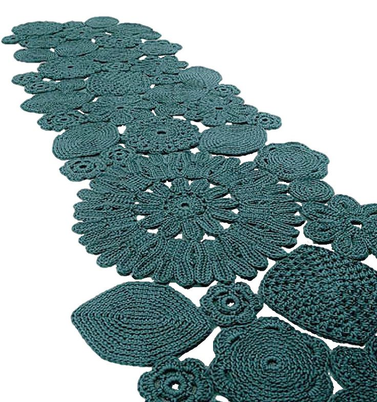Teal Crochet Rug - Patricia Urquiola and Eliana Gerotto - http://www.paolalenti.it/en/product/show/crochet/