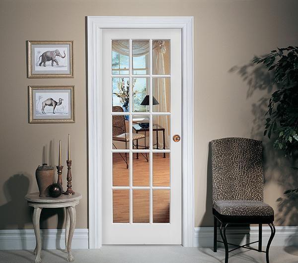 15 Lite French Door Primed Door To Door Prehung Interior Doors Doors Interior Glass Doors Interior