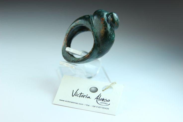 """Anillo """" Caracola"""", de cobre patinado!!!! Inspirado en la colección de caracolas del Gran Poeta Pablo Neruda. By Victoria Alonso. www.victorialonso.com"""