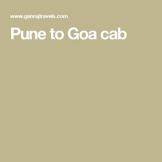 Pune to Goa cab