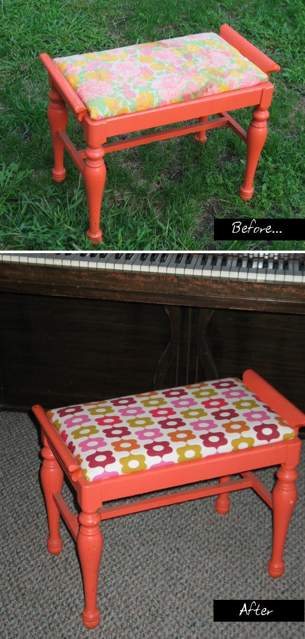 before and after piano bench http://pinterest.com/cameronpiano