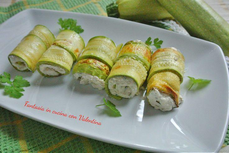 Involtini+di+zucchina+con+mousse+di+tonno