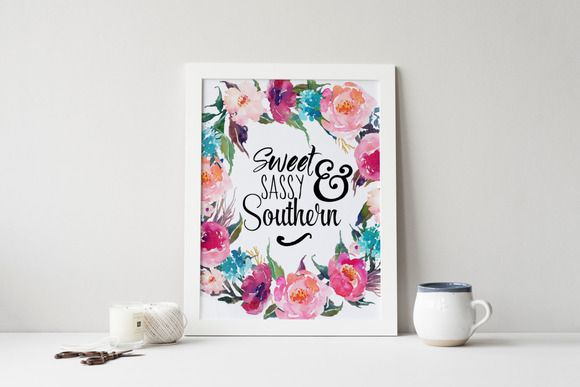 Sweet Sassy & Southern, Word Overlay by Trissha.Taylor on @creativemarket