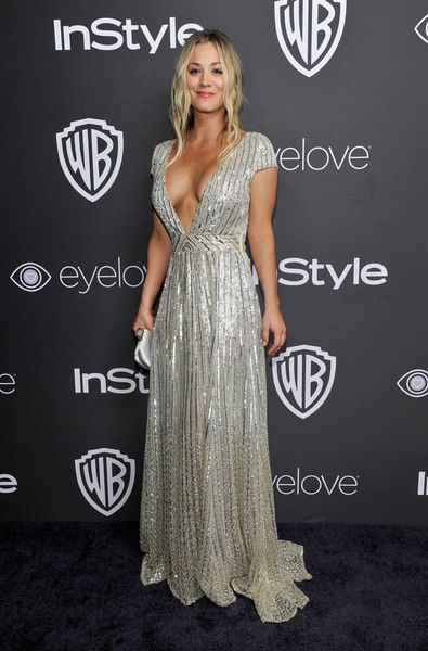 Kaley Cuoco - All the Cool Girls Were Wearing Insanely Sparkly Dresses to the 2017 Golden Globes After Party  - Photos