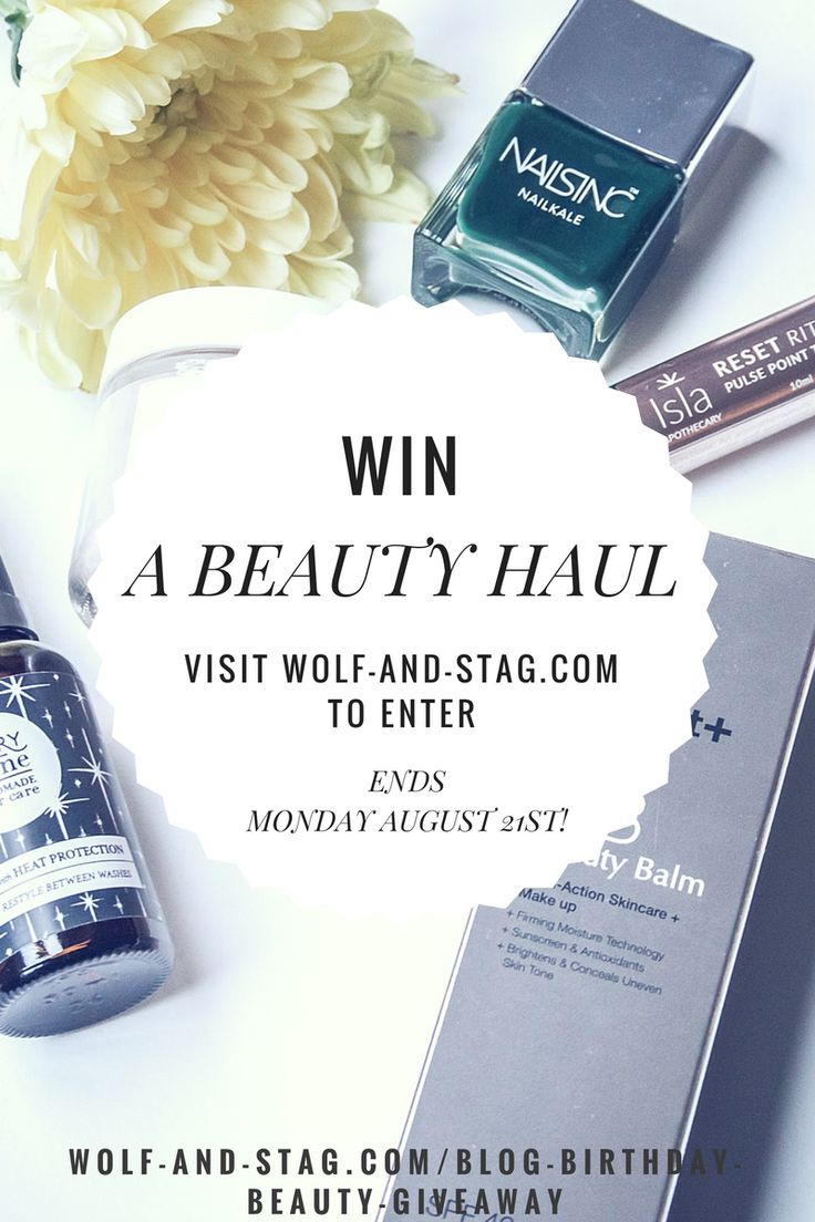 Today is the LAST day to enter my beauty haul giveaway! This is a lovely bundle of some of my favourite products and ones I've learned about through the blog. Visit wolf-and-stag.com to enter!