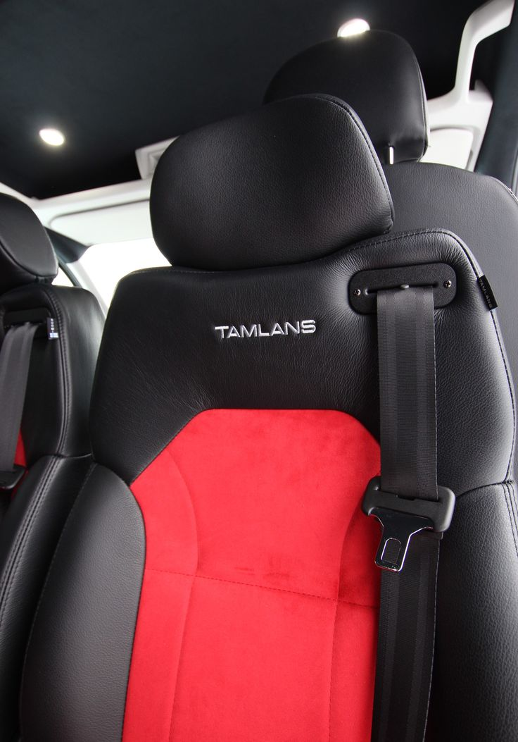 Volkswagen Crafter Tamlans Disabled Taxi, Red Alcantara/Black Leather Upholstery